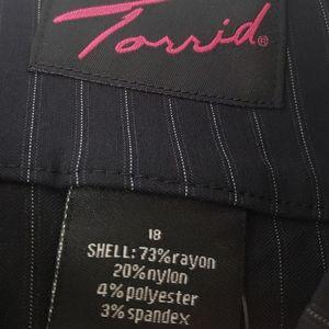 Torrid Black pinstripe Skirt